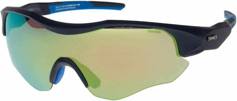 Sinner Triple Biking/Running Sunglasses, Dark Blue Sintrast Cycling