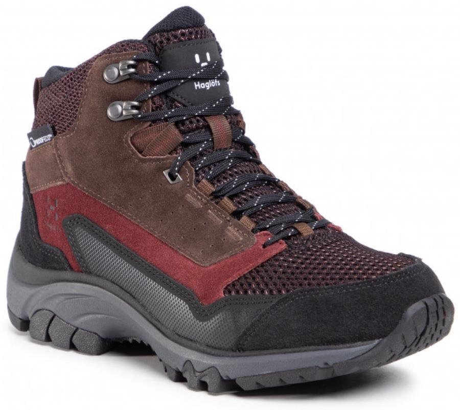 Haglofs Skuta Mid Proof Eco Women's Hiking Boots, UK 6.5 Maroon Red