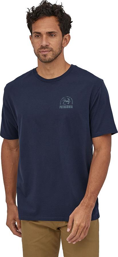 Patagonia Soft Hackle Organic T-Shirt, M New Navy