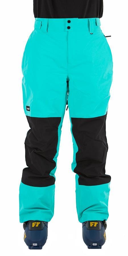 Planks Feel Good Ski/Snowboard Pants, M Teal