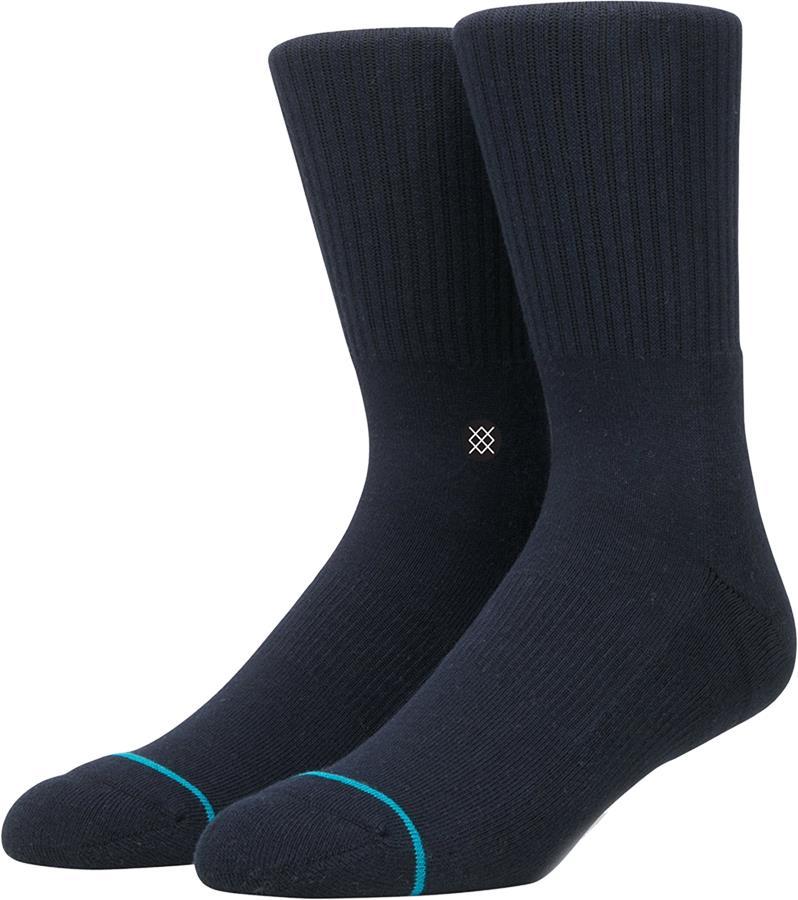 Stance Icon Casual Crew Socks, M Dark Navy