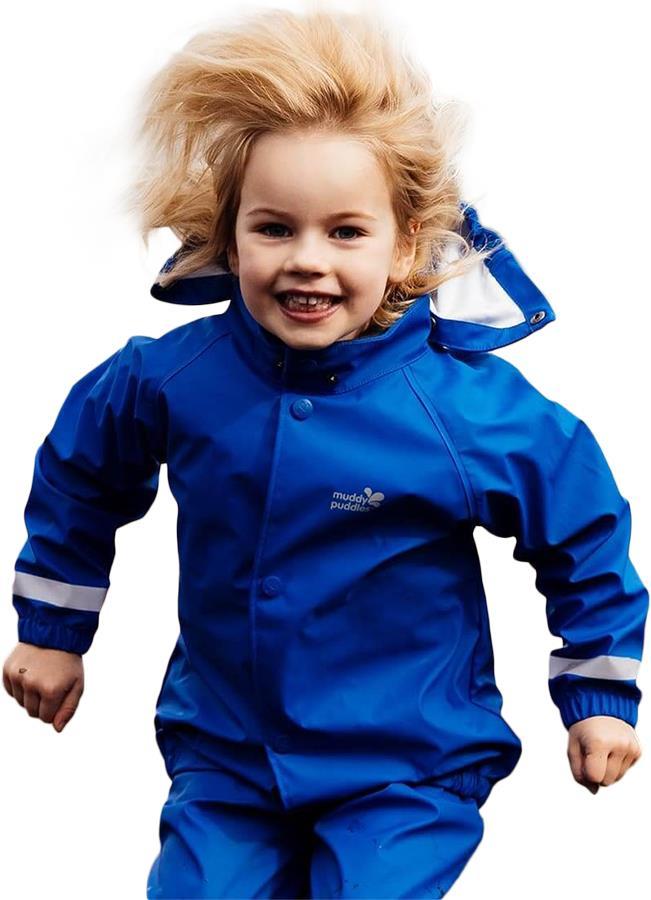 Muddy Puddles Rainy Day Kids Waterproof Jacket, 2-3yrs Royal Blue