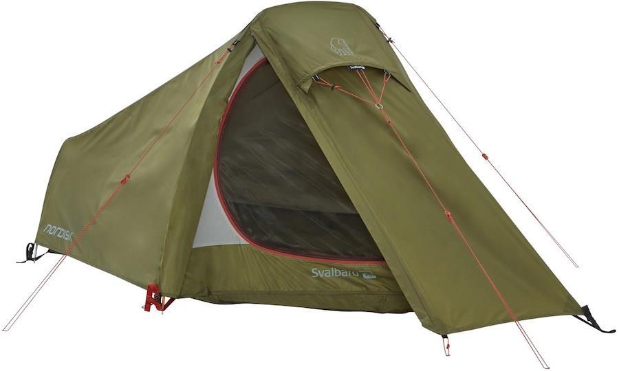 Nordisk Svalbard 1 PU 1 Man Lightweight Hiking Tent, Dark Olive