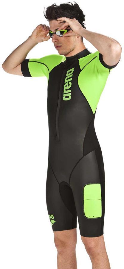 arena Neoprene SwimRun Performance Wetsuit, S Black/Fluo Green