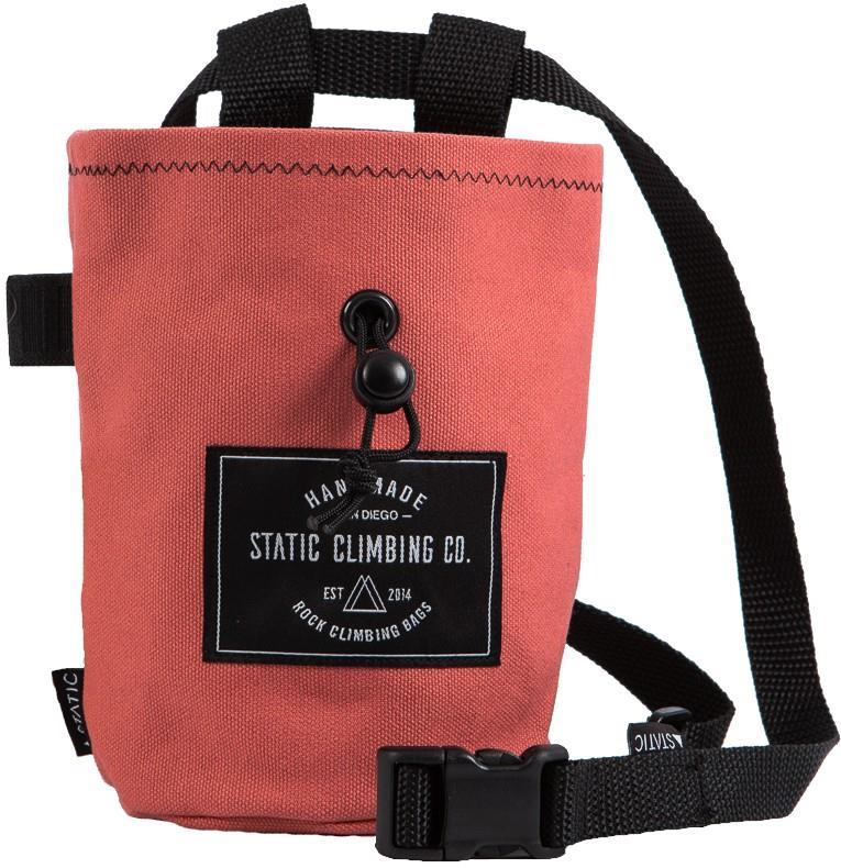 Static Canvas Rock Climbing Chalk Bag : Pink
