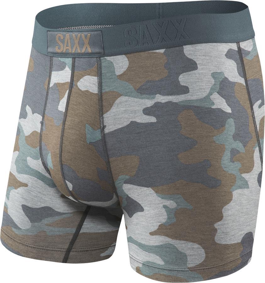 Saxx Men's Vibe Boxer Brief, M Grey Supersize
