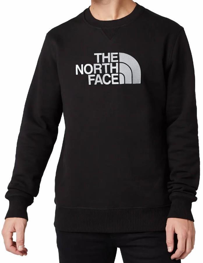 The North Face Drew Peak Crew Neck Pullover Sweater, M Black/White