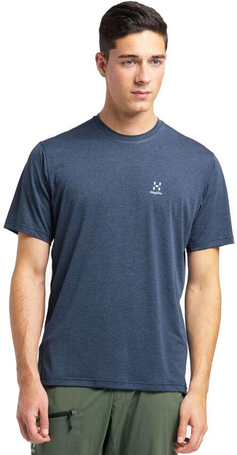 Haglofs Ridge Tee Quick Drying T-Shirt, M Tarn Blue