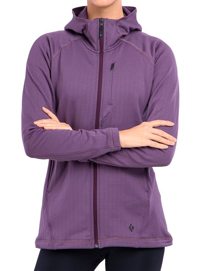 Black Diamond Factor Fleece Hoody Women's Full-Zip Jacket, UK 8 Plum