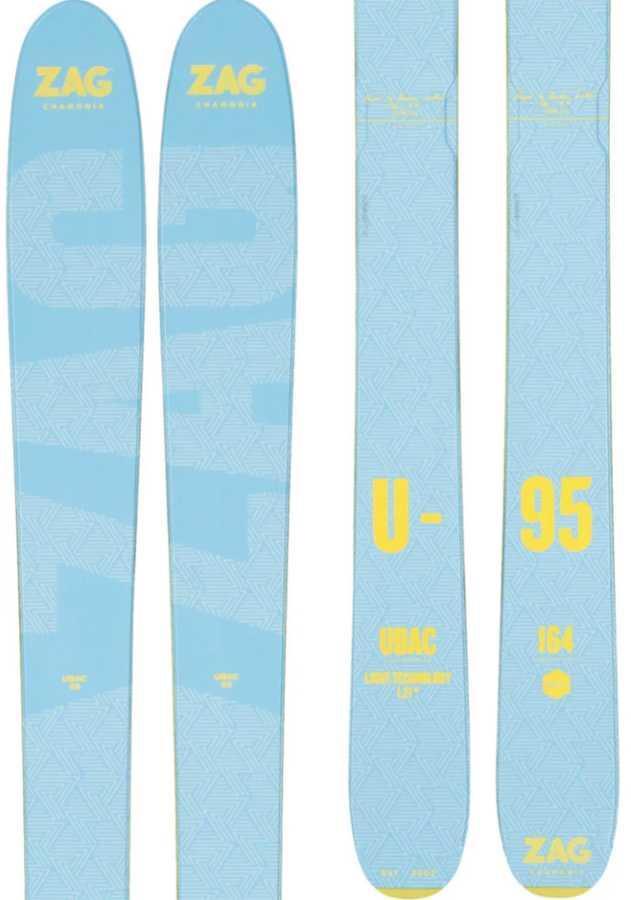 ZAG Ubac 95L Ski Only Women's Skis, 164cm Yellow/Blue