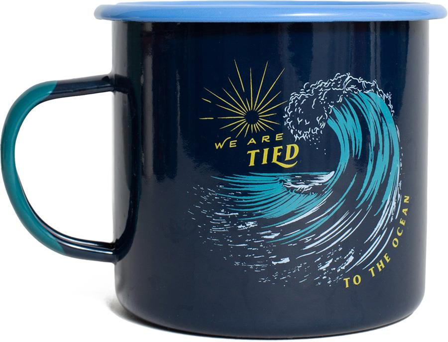 United By Blue Tied To The Ocean Enamel Steel Camp Mug, 22oz Blue
