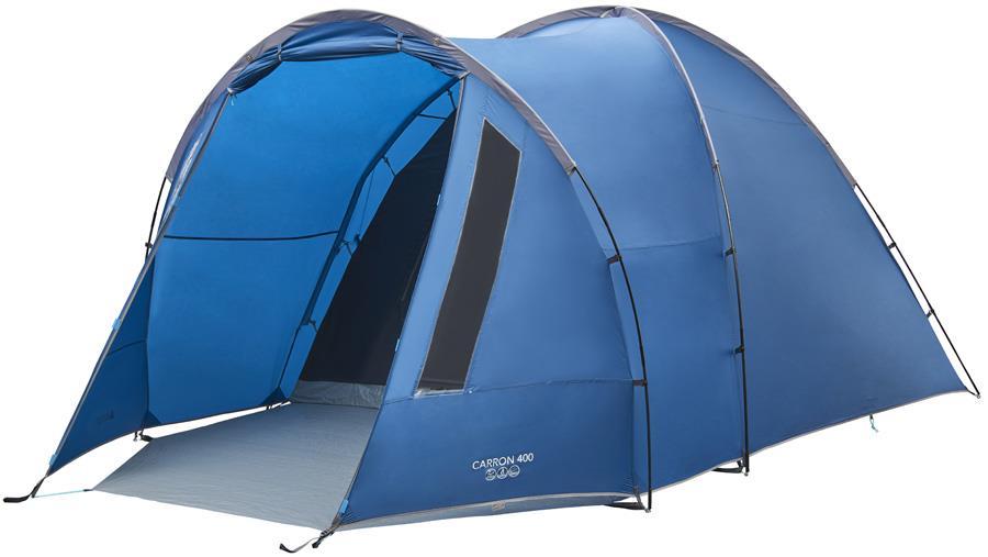 Vango Carron 400 Car Camping Tent, 4 Man Moroccan Blue