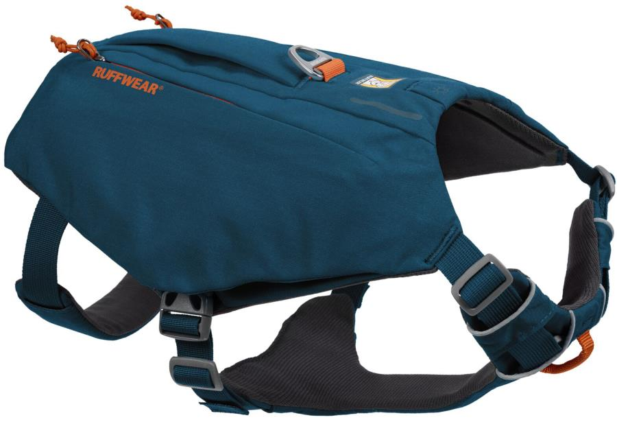 Ruffwear Switchbak Padded Dog Harness + Pockets, M Blue Moon