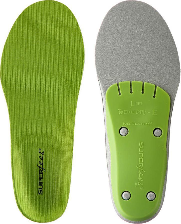 Superfeet Wide Green Performance Running/Hiking Insoles, UK 14-15.5