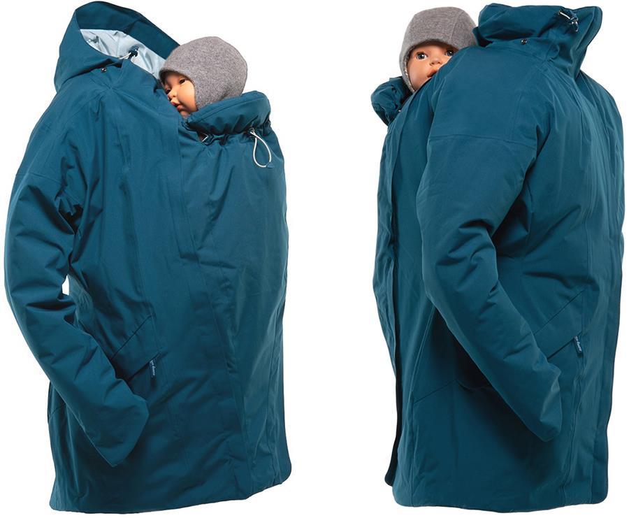 Mamalila WinterWander Baby Wearing Maternity Parka Coat, UK 12 Teal
