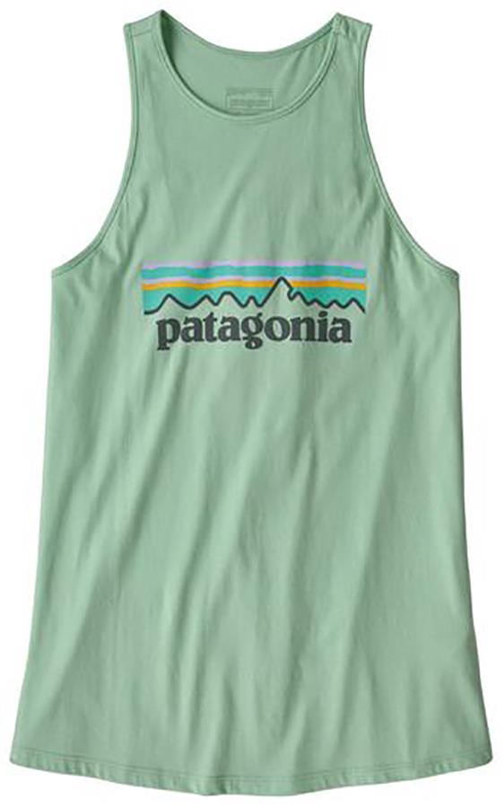 Patagonia Pastel P-6 High Neck Tank Top Vest, UK 14 Gypsum Green