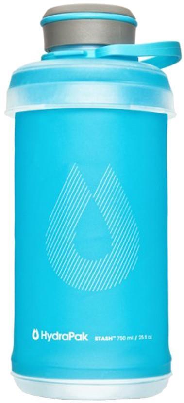 HydraPak Stash Bottle Collapsible Water Bottle, 750ml Malibu Blue