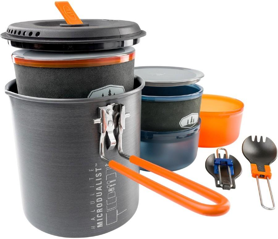 GSI Outdoors Halulite Microdualist II Compact Camping Cook Set, 1.4L