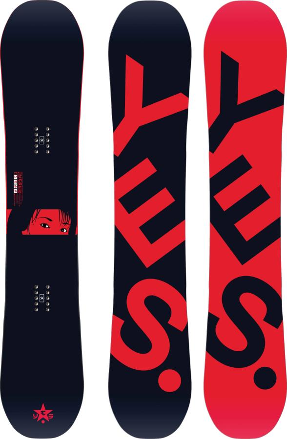 Yes. The Typo Hybrid Camber Snowboard, 155cm 2021