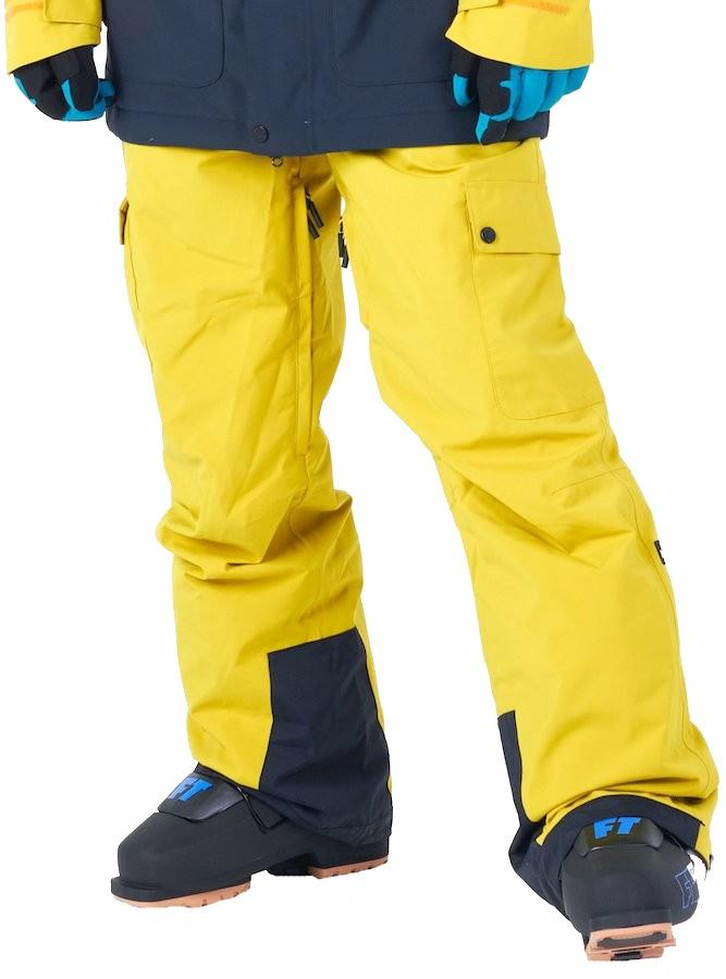 Planks Adult Unisex Good Times Insulated Ski/Snowboard Pants, L Mellow Yellow