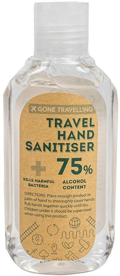 Gone Travelling Antibacterial Hand Sanitiser Gel Disinfectant Travel Protection, 120ml