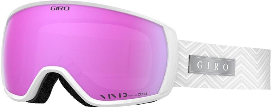 Giro Womens Facet White Zag, Vivid Pink Women's Ski/Snowboard Goggles, M
