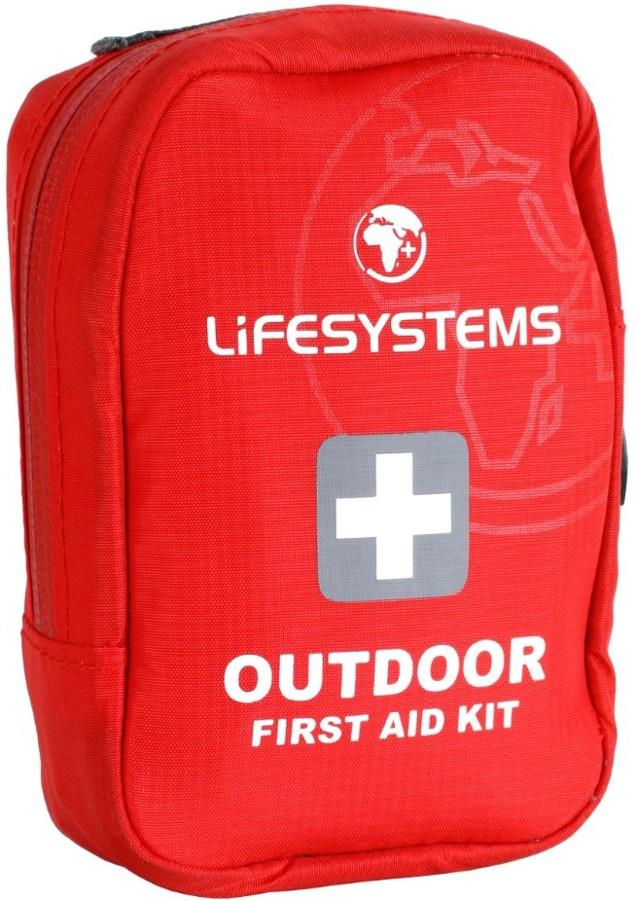 Lifesystems Outdoor First Aid Kit, 10 Items Red