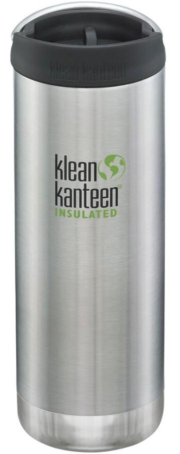 Klean Kanteen Insulated TKWide Cafe Cap Water Bottle, 473ml Brushed