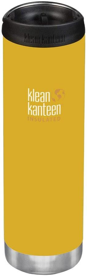 Klean Kanteen Insulated TKWide Water Bottle Cafe Cap Lemon Curry
