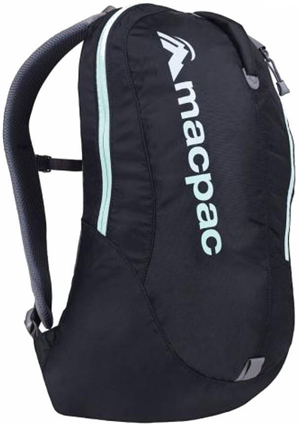 Macpac Kahuna 18 Hiking Daypack, 18L Black/Ice Green Std