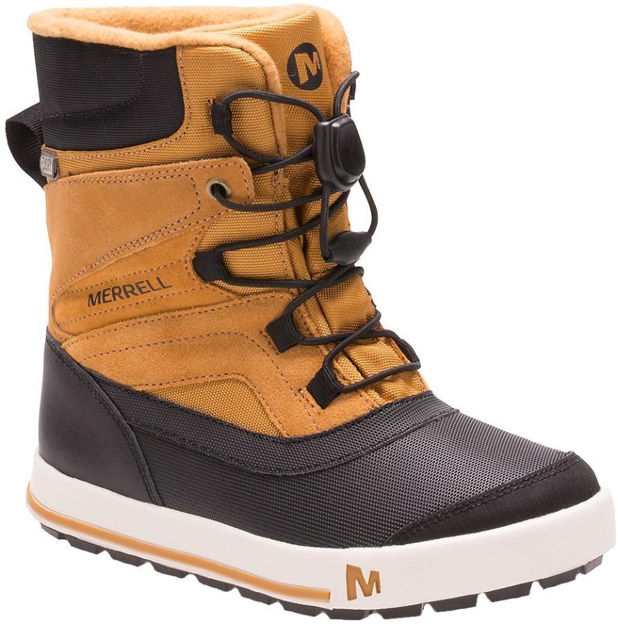 Merrell Snow Bank 2.0 WTPF Kid's Winter Boots, UK 1 Wheat/Black