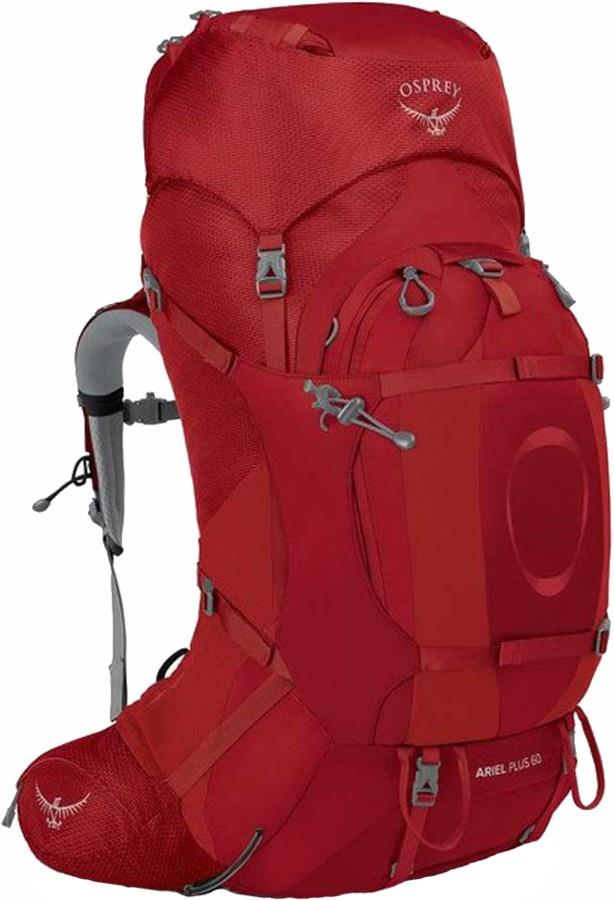 Osprey Ariel Plus 60 Women's M/L Backpack, 60L Carnelian