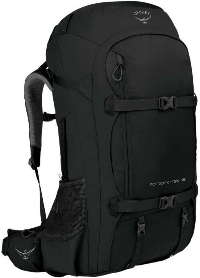 Osprey Farpoint Trek 55L O/S Holdall Trekking Backpack, 55L Black