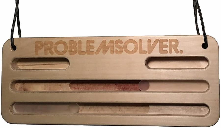 Problemsolver Training Board XL Portable Wooden Hangboard, 40x16x3cm