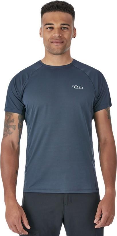 Rab Pulse SS Tee Men's Short Sleeve Top, S Ebony