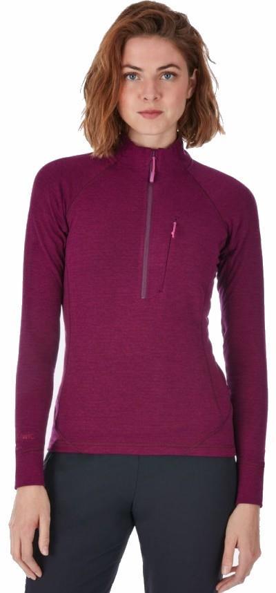 Rab Nexus Pull-On Women's Hiking Fleece, S / UK 10 Berry