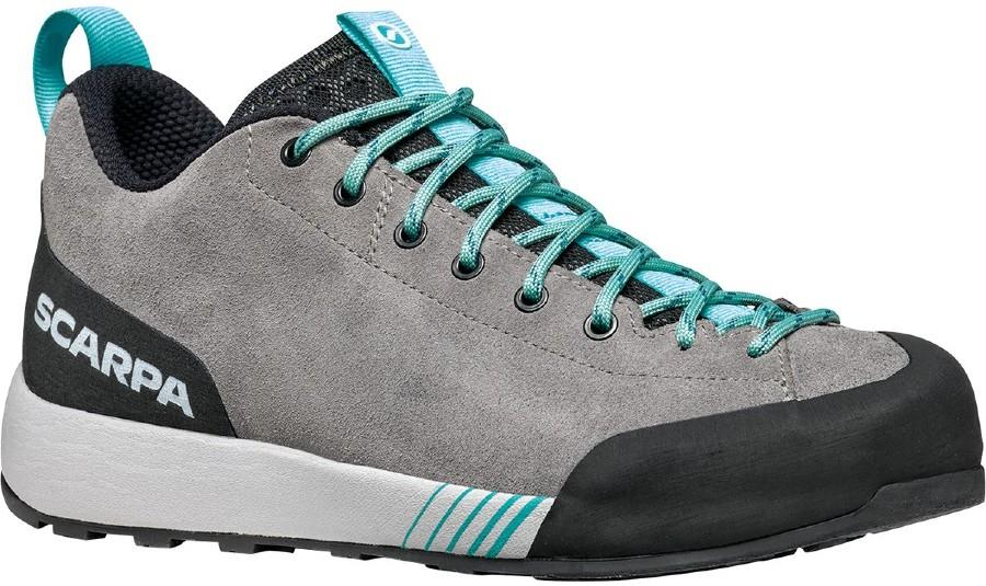 Scarpa Gecko Women's Approach Shoes, UK 7 1/4, EU 41 Midgray/Aqua