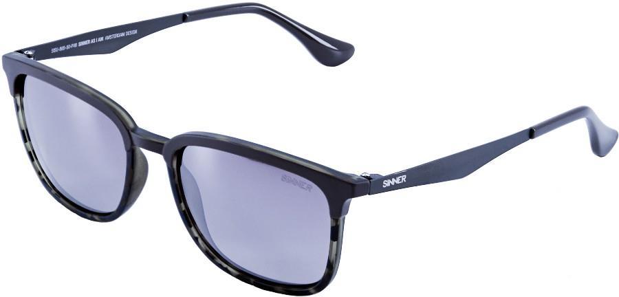 Sinner Vernal Sintec® Blue Flash Wayfarer Sunglasses, Matte Dark Blue