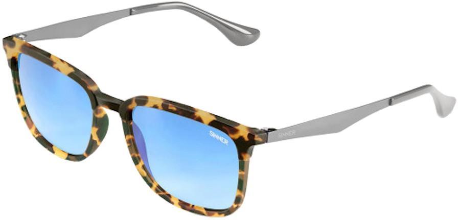 Sinner Vernal Sintec® Light Blue Mirror Wayfarer Sunglasses Grey/Sand