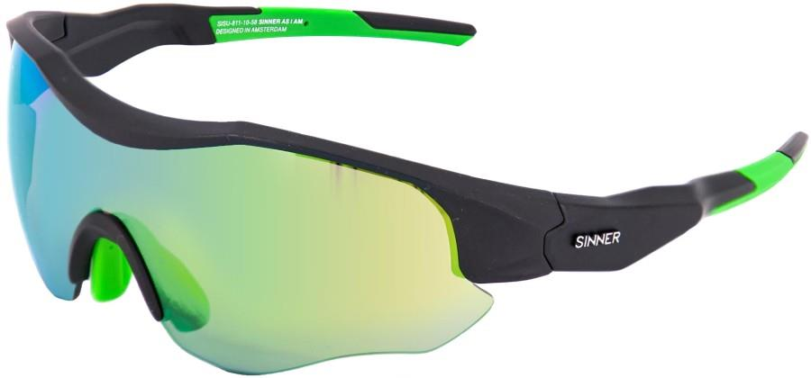 Sinner Triple Biking/Running Sunglasses, Matte Black Sintrast Cycling
