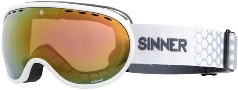 Sinner Adult Unisex Vorlage Matte White, Full Red Snowboard/Ski Goggles, M