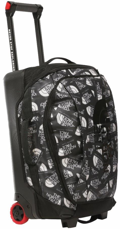 """The North Face Rolling Thunder Wheeled Luggage Bag, 22"""" 40l Toss Print"""