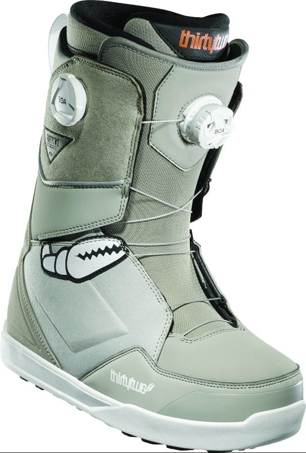 thirtytwo Lashed Double Boa Mens Snowboard Boots, UK 9.5 Crab Grab 2021