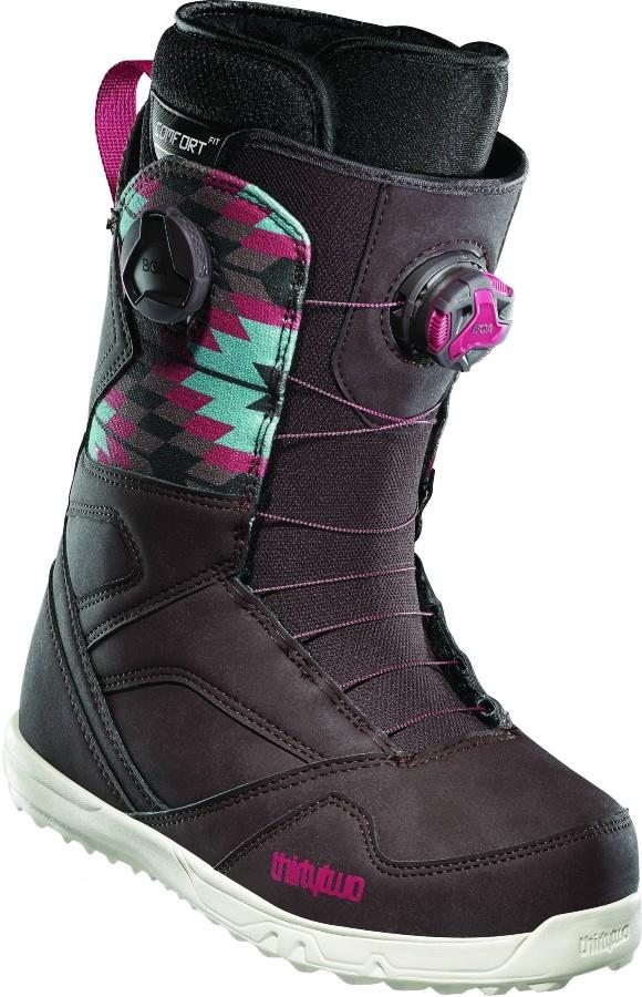 thirtytwo STW Double Boa Women's Snowboard Boots, UK 7 Brown 2021