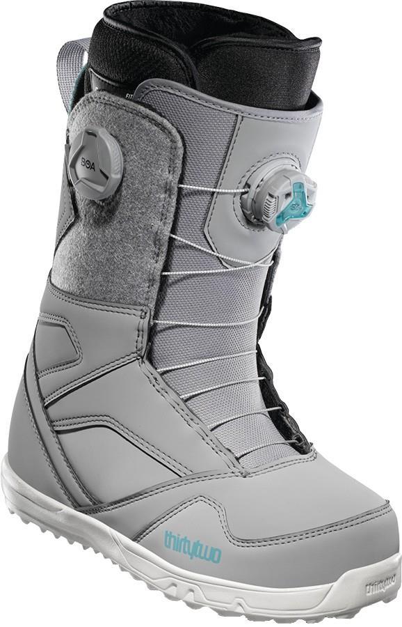 thirtytwo STW Double Boa Women's Snowboard Boots, UK 6.5 Grey 2021
