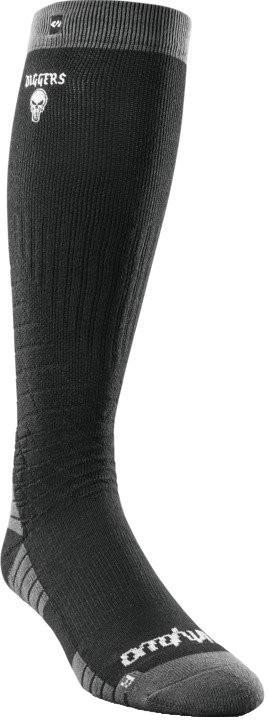 thirtytwo DIGGERS MERINO Snowboard/Ski Socks, S/M Black