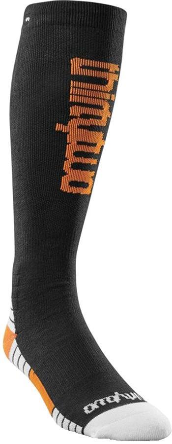 thirtytwo Men's Double Ski/Snowboard Socks, S/M Black