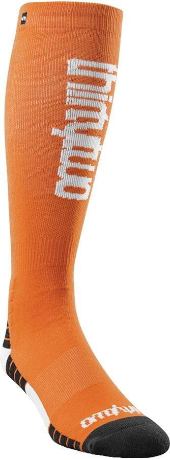 thirtytwo Men's Double Ski/Snowboard Socks, S/M Orange