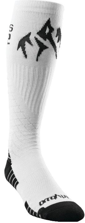 thirtytwo Jones Bamboo ASI Snowboard Socks, L/XL White