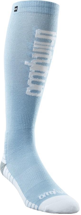 thirtytwo Women's Double Ski/Snowboard Socks, L/XL Blue
